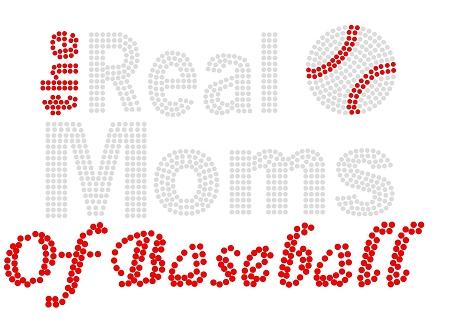 Real Moms Sports Long Sleeve Rhinestone Tee
