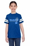 Adult 3D Wildkats  Youth Vintage Royal SS Football Jersey