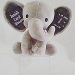 Birth Stat Plush Elephant