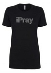 IPray Next Level Rhinestone Short Sleeve Tee