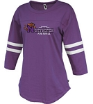 Northwestern Football Ladies Rally Jersey Glitter