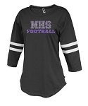 NHS Football Ladies Rhinestone  Rally Jersey