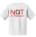Not My President Short Sleeve  Adult Tee
