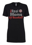 Real Moms of Baseball 1540 Next Level Perfect Rhinestone Tee