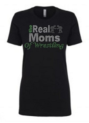 Real Moms of Wrestling 1540 Next Level Perfect Rhinestone Tee
