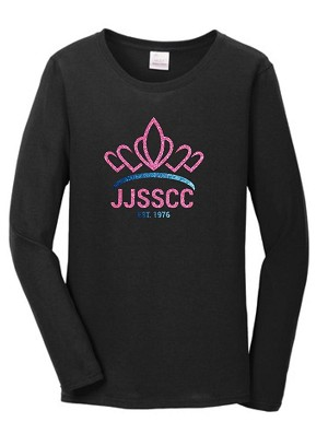 JJSSCC Ladies Glitter Crown Long Short Sleeve